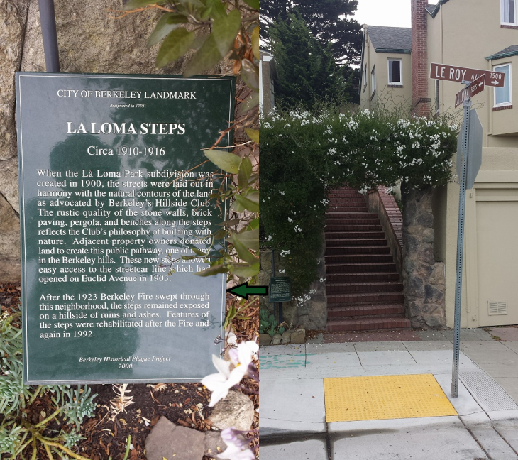 La Loma Steps with Plaque