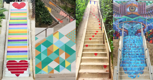 Painted Stairways Tour Collage Minimalist - 1999x1055