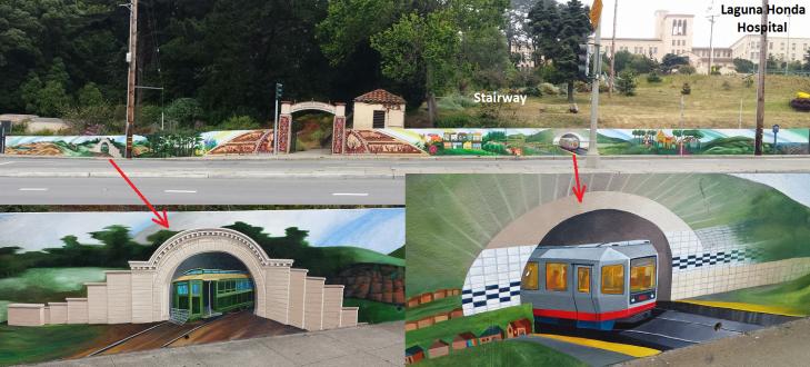Laguna Honda - Hospital-Stairway-Murals