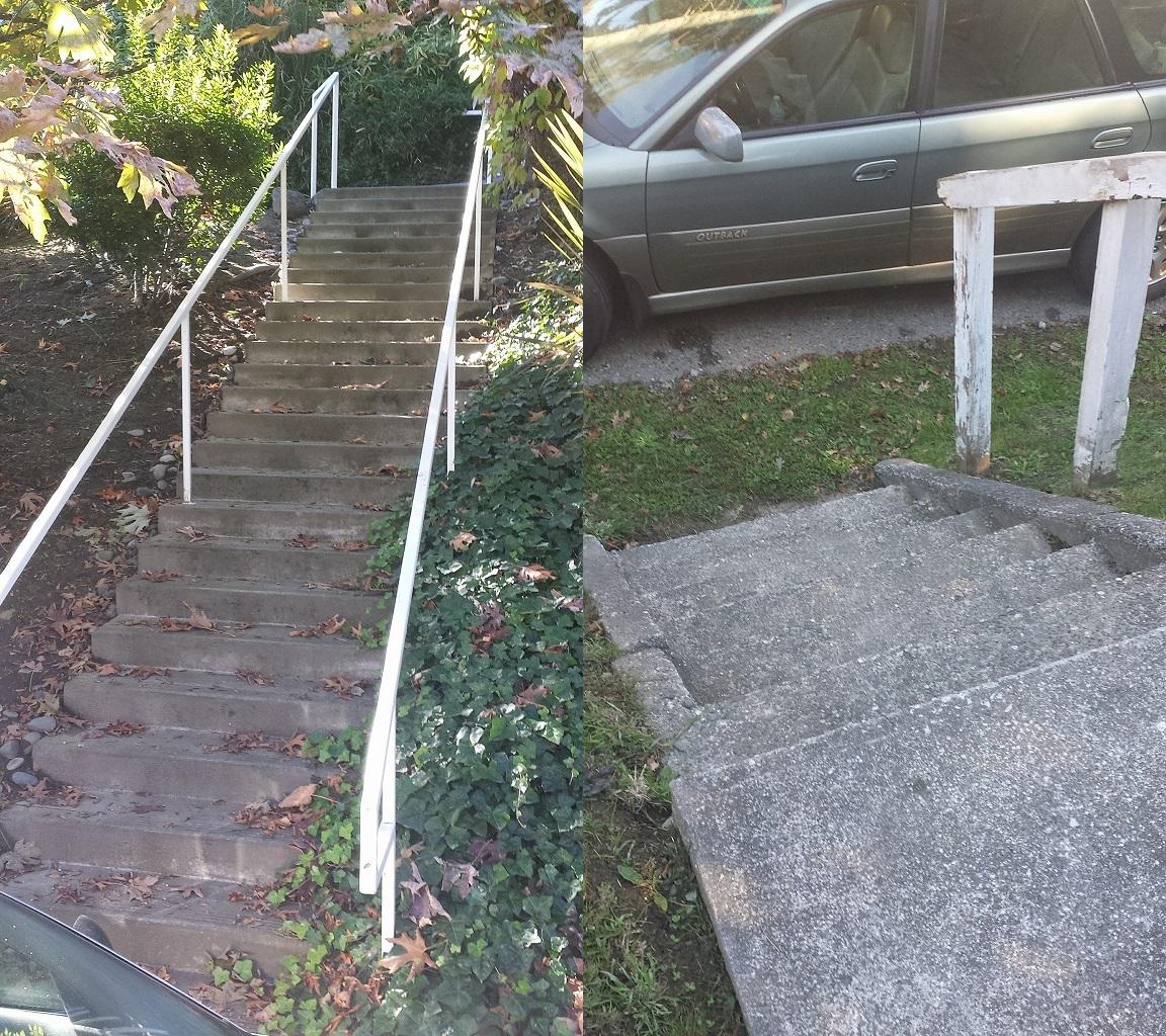 Emerson Raised Sidewalk Stairs