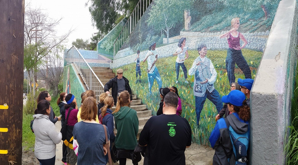 Roger Dolin speaks about his murals