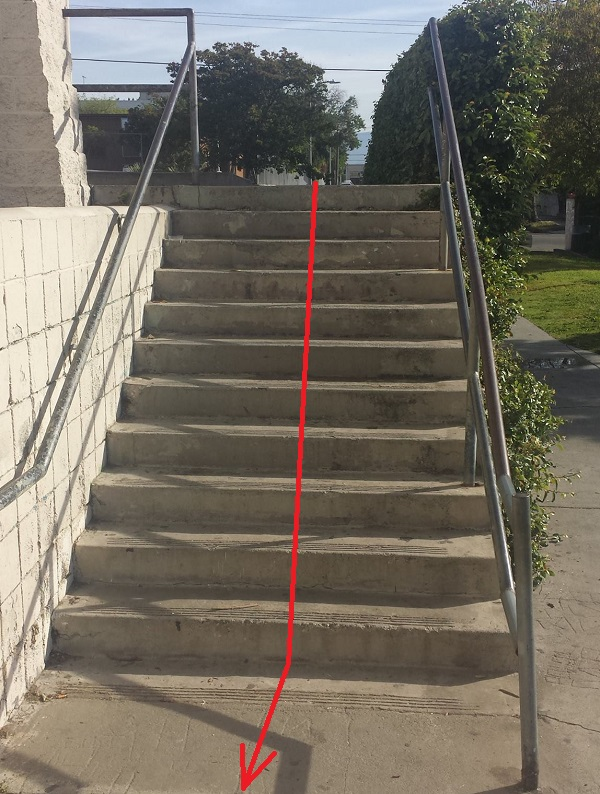 Evergreen Rec Ctr Stairs