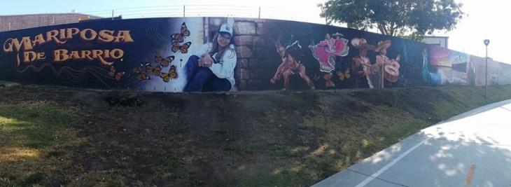 Murals along path