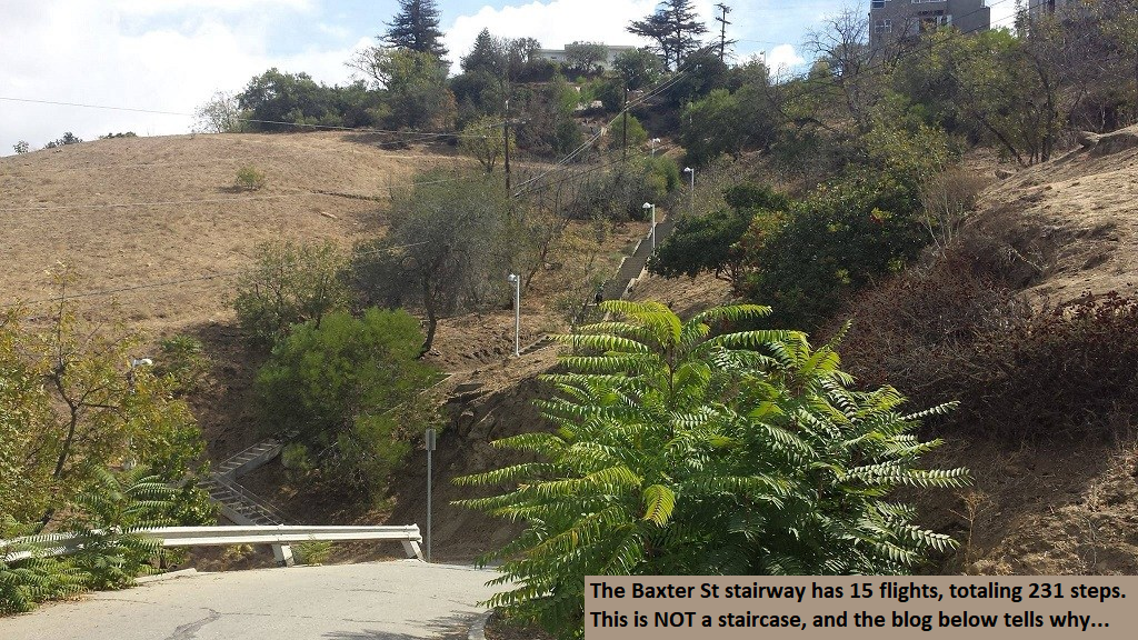 Stairway Terminology Blog Featured Image of Baxter St Stairway with Text