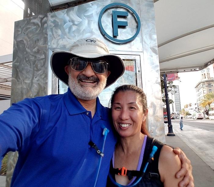 Dan and Joann at the finish of Seg D and full LB Loop - 700w