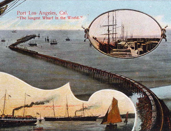 14 Port Los Angeles postcard