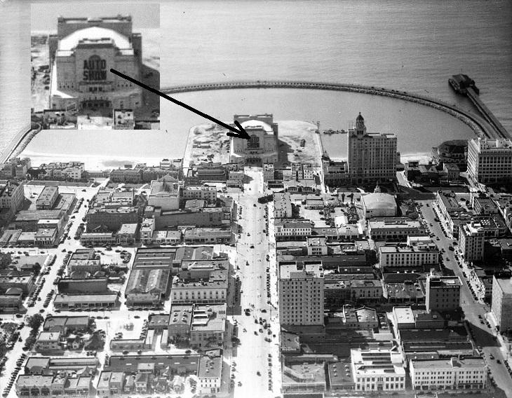 1935 LB Muni Auditorium Auto Show - rainbow_pier_from_above_long_beach_usc-