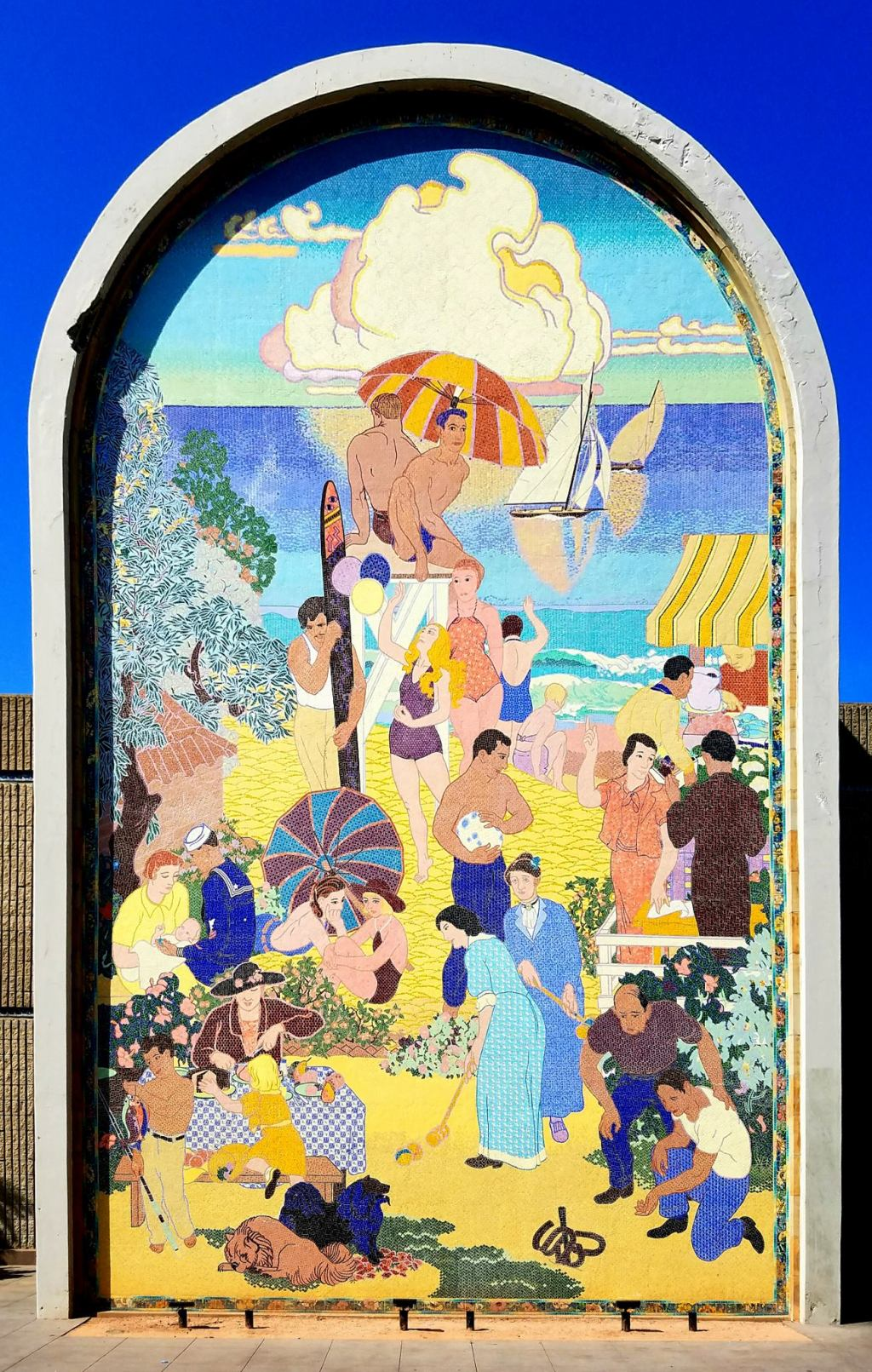 WPA Mural - Long Beach Recreation - 1937