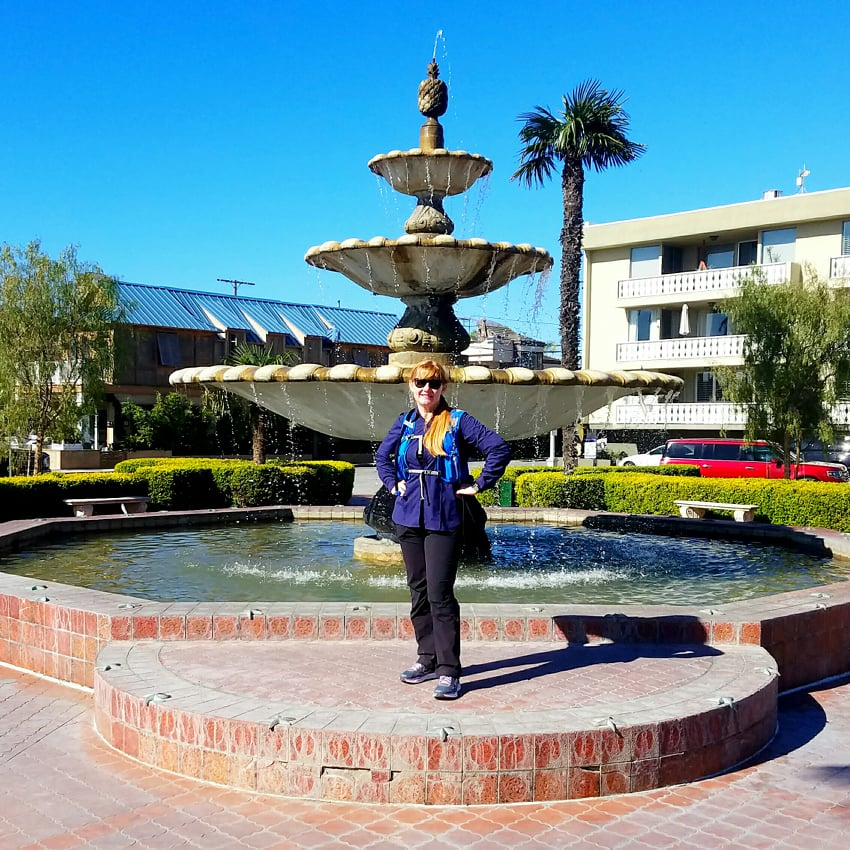 Jane completes LA Loop at Naples Fountain-Square