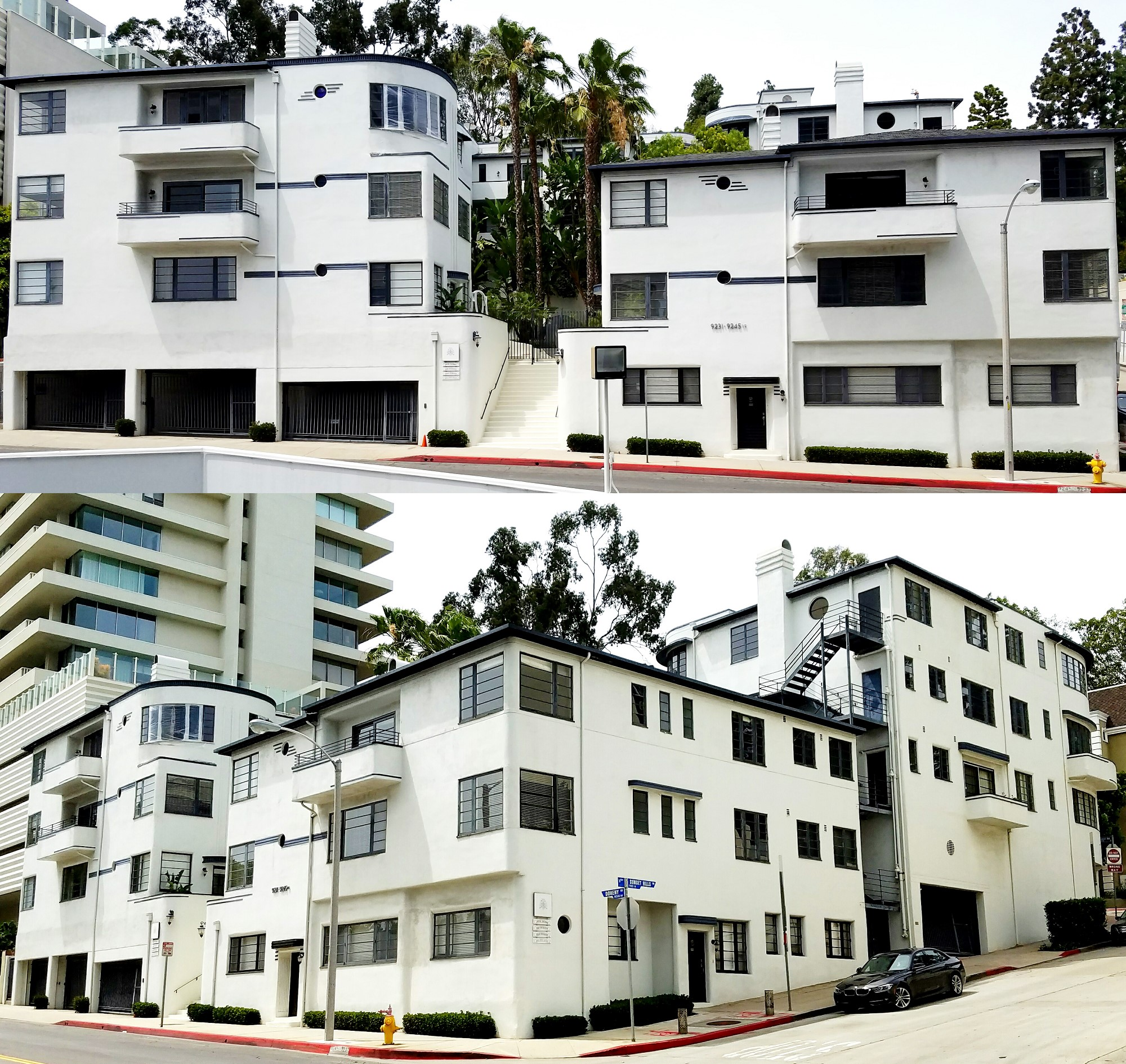 Doheny Courtyard Apartment 2 views