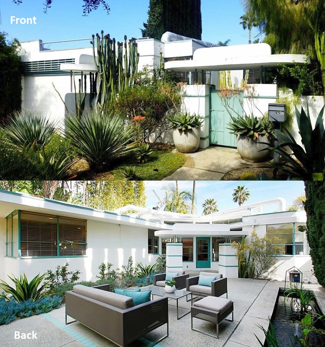 Wallace Beery Rresidence - Front and Back